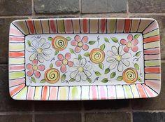 Hand Built Pottery, Slab Pottery, Ceramic Pottery, Painted Pottery, Painted Plates, Hand Painted Ceramics, Pottery Painting, Ceramic Painting, Ceramic Mugs
