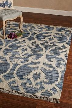 Recycled Denim Kilim Rug from Soft Surroundings