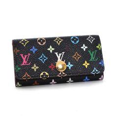 Louis Vuitton Multicles 4  Monogram Multicolor Other Black Canvas M93732