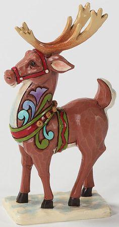jim shore mini christmas reindeer reindeer figurine