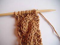 tutorial knitting 'kabels'.
