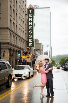 Romantic Nashville Engagement Photos | 2 Hodges Photography | Tennessee Theater | Reverie Gallery Wedding Blog