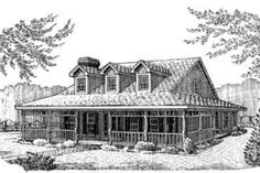 Southern Style House Plan - 3 Beds 2.5 Baths 1795 Sq/Ft Plan #410-218 Exterior - Front Elevation - Houseplans.com