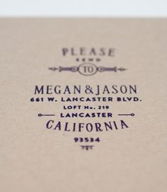 in love with a personalized return address stamp once you settle down