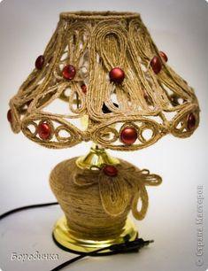 Декор предметов Моделирование конструирование Декор лампы джутом Нитки