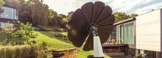 the smartflower all-in-one photovoltaic system takes the form of a flower, with solar panel �petals� that automatically unfurl when the sun rises.