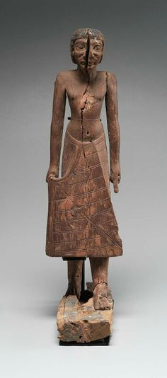 Wooden statue of Hagi. First Intermediate Period, c. 2100 - 2061 B.C. | Museum of Fine Arts, Boston