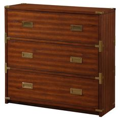Office Star OSP Designs by Products Wellington Cabinet 3 Drawer Nightstand, 3 Drawer Chest, Drawer Unit, Dresser Drawers, Chest Of Drawers, Campaign Dresser, Office Star, Brass Drawer Pulls, Wooden Cabinets