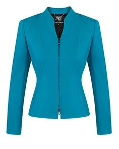 SEA STRETCH PONTI ZIP FRONT JACKET - Style Number: CD98213