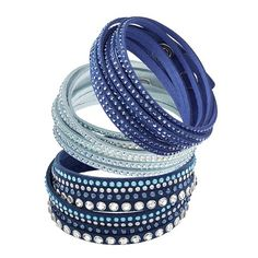 Which Slake bracelet shade of blue do you love the most? Swarovski Slake Bracelet, Swarovski Crystals, Perle Rare, How To Look Rich, Summer Dream, Shades Of Blue, Blues, Jewels, Bracelets