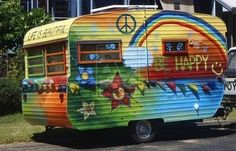 CUTE HIPPIE CAMPER