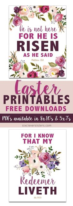 Ideas Holiday Crafts Summer Free Printable For 2019 Easter Scriptures, Easter Bible Verses, Easter Sayings, Bible Scriptures, Catholic Easter, Easter Religious, Easter Art, Easter Crafts, Easter Ideas