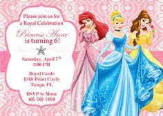 Disney Princess Invitation by OnlinePartyDesign on Etsy