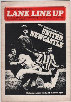 Vintage Football Programme - Sheffield United v Newcastle United, 1971/72 season, by DakotabooVintage, £3.99