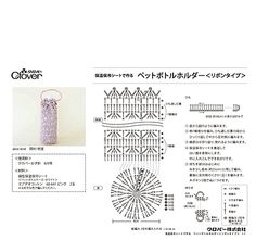 crochet water bottle cover 保温保冷シートで作る ペットボトルホルダーのレシピ(PDF)