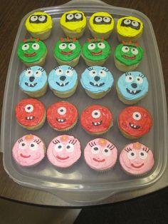 Yo Gabba Gabba designed cupcakes