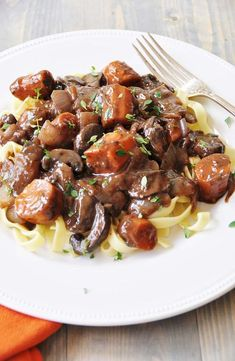 A healthy twist on a French classic. Rich wine sauce and savory vegetables make this a perfect fall meal.