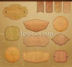 free downloads vector retro leather lables tags Design Templates EPS file | Free download Design Templates Graphic original file