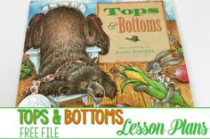 Top and Bottoms Lesson Plans! Here are some great book activities for kindergarten and first grade. Fun ideas to use with our favorite Janet Stevens book. Reading, responding to literature, retelling, center and craft ideas too! Perfect for Spring!