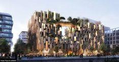 Kengo Kuma to develop 'eco-luxury' in Paris Kengo Kuma, New Paris, Paris Hotels, Greenery, New York Skyline, The Neighbourhood, Building, Travel, Design