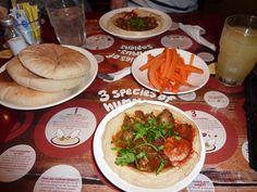 Hummous and pittas from Hummus Bro, London