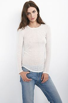 SYMPHONY AUTUMN GAUZE CREW NECK TOP