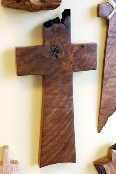 Walnut Cross 11 high x 6 wide by BlackFacedSheep on Etsy, $47.00