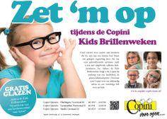 Kinderen krijgen tijdens de kidsweken gratis standaard enkelvoudige glazen met kraswerende laag en ontspiegeling. *Sterkte tot +/-6, C2