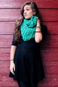 Buy a scarf today from Hovering Doves and stay warm and beautiful in the fall and winter :)  #infinityscarf #missions #africa #fall #winter #cozy #teal #knitting #hoveringdoves  www.hoveringdoves.com