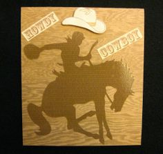 handmade cards for boys   HOWDY COWBOY, Handmade Card for Children, Horse, 3D Hat, Boys, Blank ...