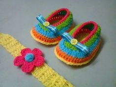 Fotos de  Hermosos zapatos tejidos a crochet