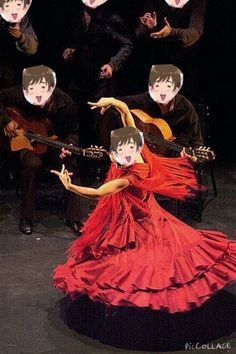 Dancing Spain. I have no regrets making this.<It's a beautiful contribution to the fandom -Nora