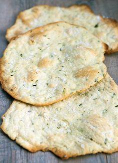 Rosemary & Sea Salt Flatbread Crackers   Homemade Food Recipes