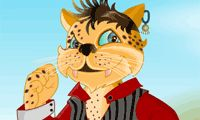 If he is ever gonna be king of the jungle, this cool cat higher dress to impress!