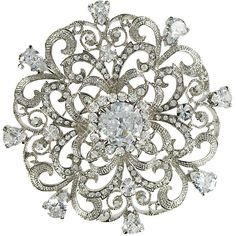 Shining Cubic Zirconia and Stellux  Stones Brooch