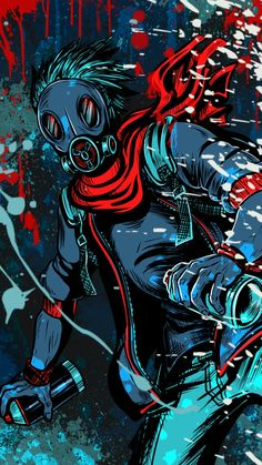 Graffiti Wallpaper Iphone, Pop Art Wallpaper, Trippy Wallpaper, Cartoon Wallpaper, Gas Mask Art, Masks Art, Joker Wallpapers, Gaming Wallpapers, Hacker Wallpaper