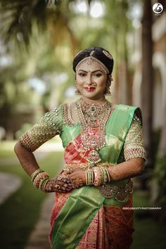 South Indian Brides Who Wore Kanjeevarams in Unique & Offbeat Colors! South Indian Brides Who Wore Kanjeevarams in Unique & Offbeat Colors! Indian Wedding Bride, South Indian Weddings, South Indian Bride, Saree Wedding, Indian Groom, Bridal Sarees, Lehenga Jewellery, Temple Jewellery, Gold Jewellery