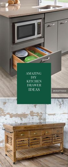 DIY Kitchen Drawer Ideas #kitcendecor #diykitchen Drawer Inspiration, Drawer Ideas, Drawer Design, Kitchen Drawers, Diy Kitchen, Cool Kitchens, Diy Home Decor, Cabinets, Kitchen Appliances