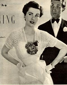vintage hairpin lace shrug *every woman magazine, may 1952 Vintage Crochet Patterns, Crochet Stitches Patterns, Vintage Knitting, Sewing Patterns, Stitch Patterns, Hairpin Lace Crochet, Knit Crochet, Double Crochet, Lace Shrug