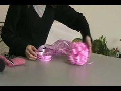 como fazer laço bola para presentes ou buquê de flores