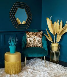 An extravagant plan B para plantas de interior # dark interiors Ideas de un p . Decor Room, Living Room Decor, Bedroom Decor, Teal Living Rooms, Art Deco Bedroom, Art Deco Decor, Design Bedroom, Living Spaces, Interiores Art Deco