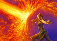 Force of Will by Matthew Stewart, I imagine this is what Aira looks like while blocking fire.