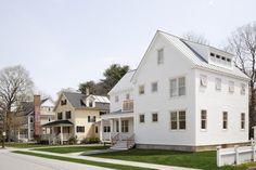 Modern white eco-friendly farmhouse