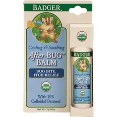 Badger After-Bug Travel Stick itch relief