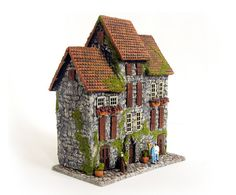 The Medieval Stone Row House  Trio of Miniature by bewilderandpine, $99.00