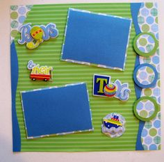 Awesome scrapbook page for little boys.