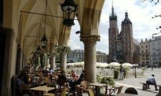 The main market square in Krakow old town.