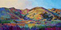 California Greens II -- Paso Robles wine country oil painting landscape painting by Erin Hanson #OilPaintingLandscape