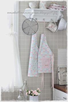 Oma koti onnenpesä: Pastellisia ompeluksia Kitchenware, Shabby Chic, Rustic, Bathroom, Green, Home Decor, Dekoration, House, Country Primitive