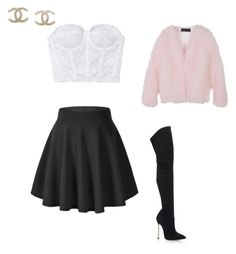 """love"" by mrmitch ❤ liked on Polyvore featuring StyleNanda, Chanel and Casadei"